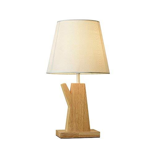 Lámpara de Mesa de Iluminación Decorativa Interior Lámpara de mesa - madera lámpara de mesa de noche con lámpara de escritorio de lino tela de la cortina for el dormitorio, Dresser, Sala, niños, 24x43