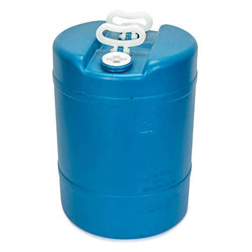 15 Gallon Emergency Water Storage Barrel - 1 Tank - Preparedness Supply - Water Tank Drum Container - Portable, Reusable, BPA Free, Food Grade Plastic