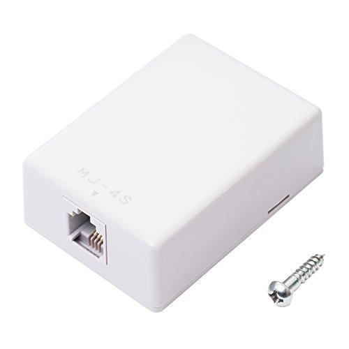 ミヨシ MCO 電話機用 回線ローゼット 6極4芯 増設用 グレー DA-R40/GY