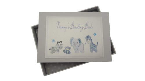 White Cotton Cards Nanny's Boasting Book Tiny Photo Album Toys Range (Blue)