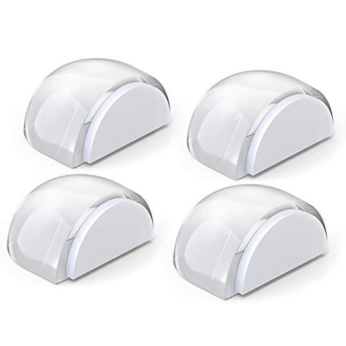 Yosemy Tope de Puerta para Suelo, 4 Piezas Topes para Puertas Transparente Autoadhesivo Protección de Pared y Muebles y 4 Piezas de Cinta Adhesiva Transparente
