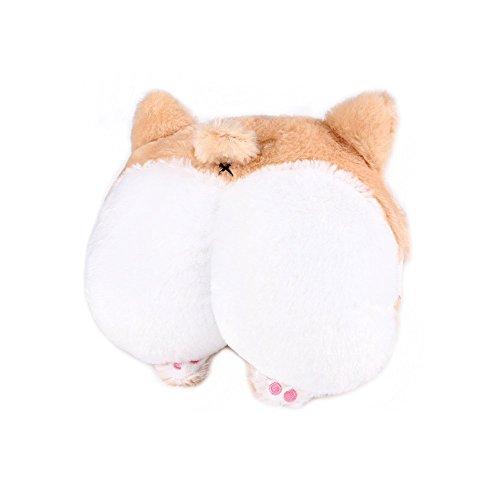 RUTICH Corgi Butt Car Neck Pillow, Cute Corgi Butt Neck Travel Pillow for Kids Adults Travel Car Seat & Home