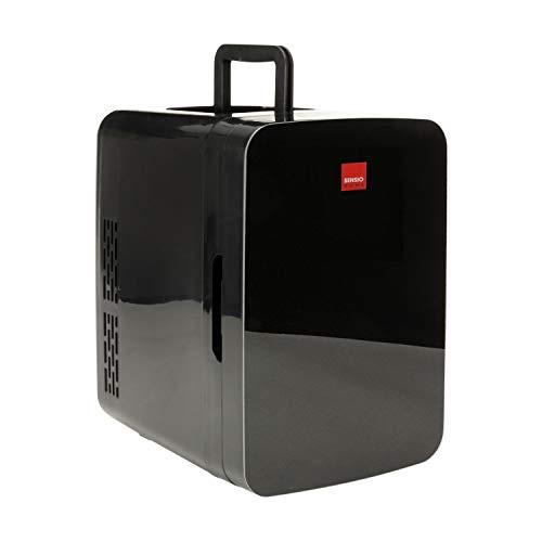 SENSIOHOME 2-in-1 10L Mini Kühlschrank, mit Kühl- und Heizen funktion, 12 Volt und 230 Volt, Autos, Schlafzimmer, Büros, Zelten, Kosmetik, AC DC (Schwarz)