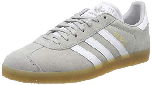 adidas GAZELLE, Herren Gymnastikschuhe, Grau (Grey Two F17/Ftwr White/Gum 3 Grey Two F17/Ftwr White/Gum 3), 45 1/3 EU (10.5 UK)