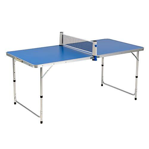 Enrico Coveri Tavolo da Ping Pong Pieghevole Blu Completo di Racchette e Pallina, Perfetto per Interno e Esterno