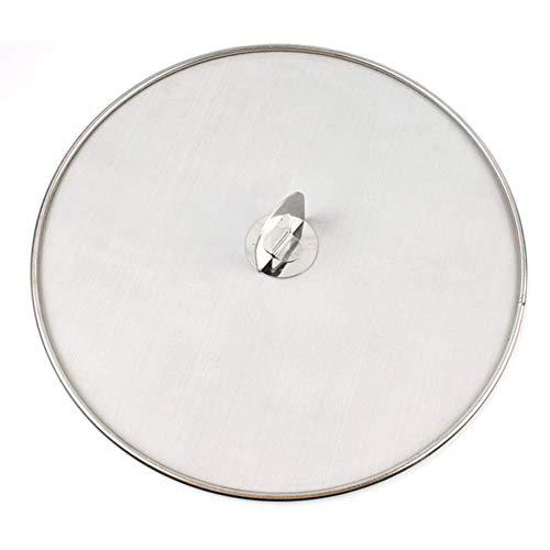 Spritzschutz aus Edelstahl für Pfanne, tragbar, temperaturbeständig, Fettschutz, langlebig, praktisch, mit Pfannendeckel, multifunktional, ölbeständig (25 cm) 25 cm Wie abgebildet