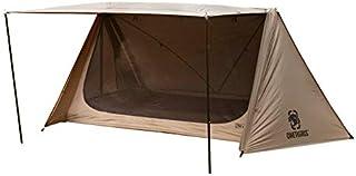 OneTigris Outback Retreat bushcraft dubbeltält 4-dörrars campingskydd tält 05 med 4 tältstänger återanvändbar förpackning