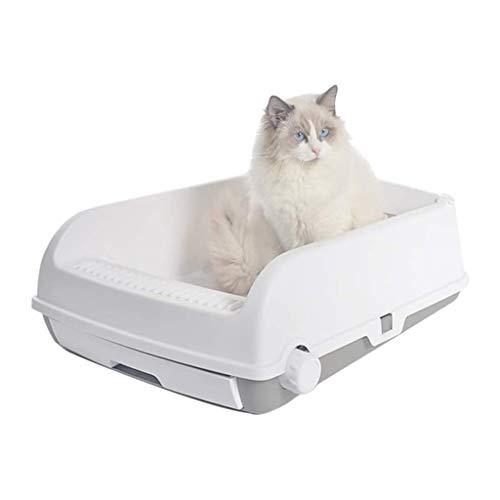 Mysida Cat Litter Box La Basura Semiautomática del Gato Caja De La Litera Semi Cerrado Cajón Desodorización del Gato WC Bandeja For Mascotas A Prueba De Salpicaduras Fácil De Limpiar