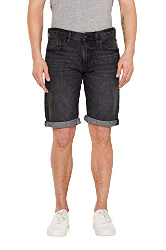 edc by ESPRIT Herren 049CC2C012 Shorts, Schwarz (Black Dark Wash 911), 32