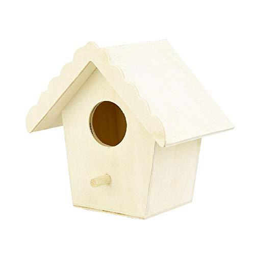 Jardin Jardin Feeder Transparent Durable Suspendu en Plastique en Bois Bird House Alimentaire Case Pet Supplies Forme Hexagone Mangeoire en Bois (Color : C)