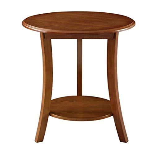 Tavolino Soggiorno Tavolino Rotondo Moderno Tavolino con Magazzinaggio Fine Tavolo in Attesa Area Tavolo tè in Legno Massiccio Tavolino da Salotto (Color : A)