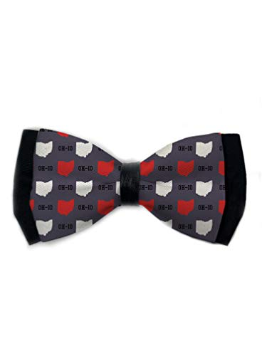 URTEOM Dog Bow Ties, Pet Neck Ties, Adjustable New Oh-io State Gray Bowties Collar, Grooming Accessories for Puppy/Small/Medium/Large Dogs Cats, Soft and Comfortable