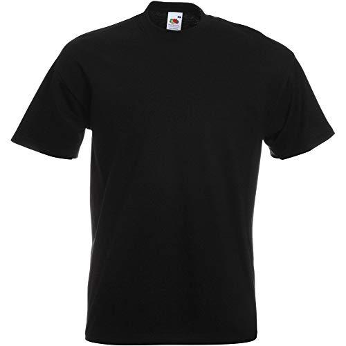Fruit of the Loom - Camiseta unisex para adultos Negro XXXXL