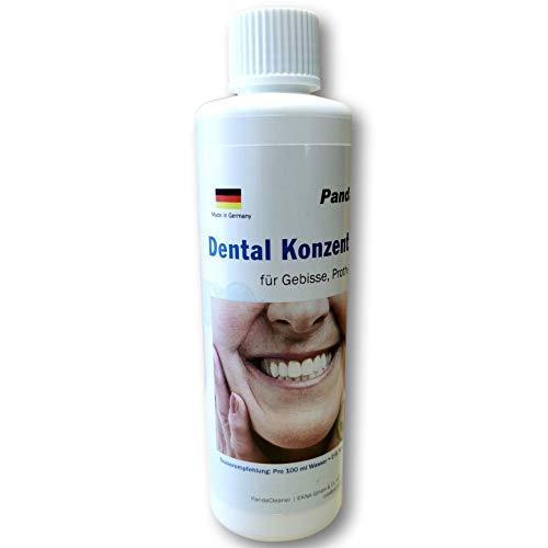 Dental Konzentrat Ultraschallreiniger - Entfernung von Belägen und Verfärbungen - für Gebisse, Prothesen, Zahnersatz & Zahnspangen (250 ml)