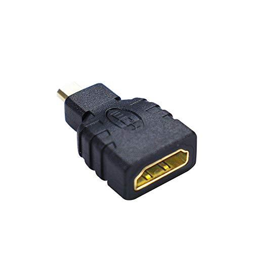 weichuang Accessoires électroniques Adaptateur micro HDMI vers HDMI de petite à grande taille pour RPi 4B uniquement pièces électroniques Accessoires électroniques
