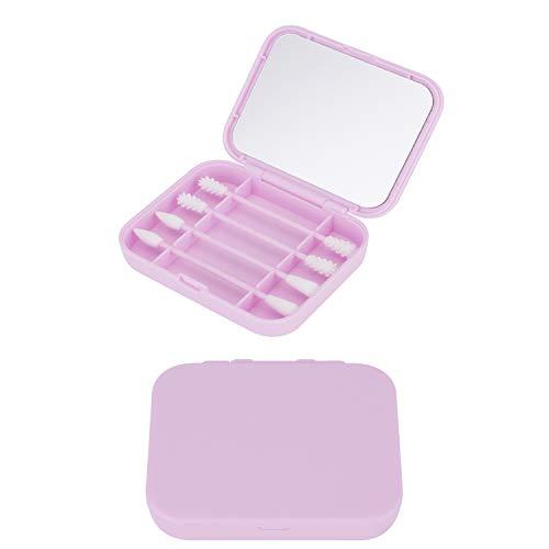 TTOOP Wiederverwendbare Premium Silikon Wattestäbchen, umweltfreundliche Ohrstäbchen und Kosmetikstäbchen mit weichen Silikonaufsätzen, Tragbare Ohrstäbchen (Pink)