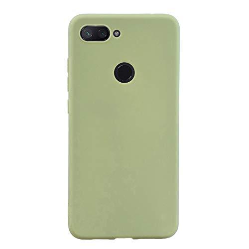Capa Grandcase Mi 8 Lite, capa protetora ultrafina de silicone macio TPU fosco absorção de choque anti-queda para Xiaomi Mi 8 Lite 6,2 polegadas – Verde