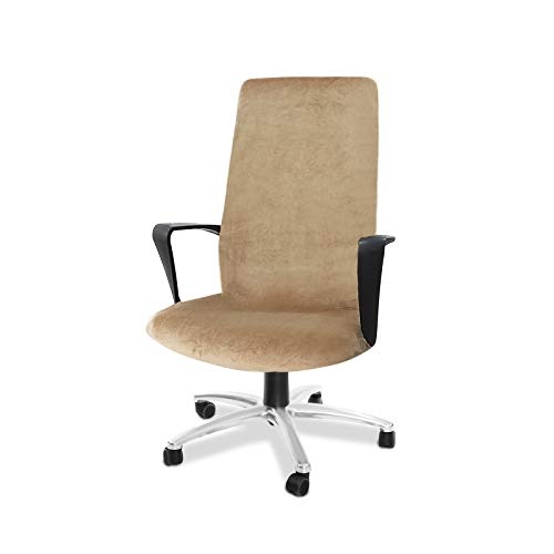 CAVEEN Bürostuhl Bezug, Bezug für Bürostuhl Computerstuhl Bürostuhl husse Drehstuhl bezug drehbar abnehmbar Bürostuhl Überwurf Bezug für Sessel Schonbezug für Büro (Beige, Large)
