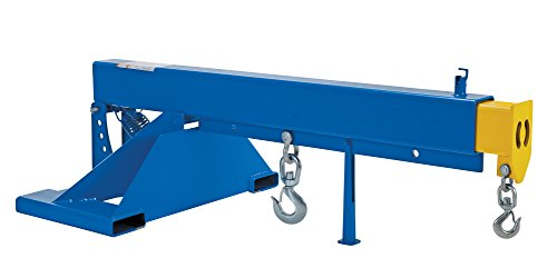 """Vestil LM-OBT-8-36 Orbit Telescoping Lift Boom, 8000 lb Capacity, 36"""" Fork Pocket Center, Overall LxWxH (in.) 44 x 85.25 x 28.875, Overall Extended Length (in.) 145-1/4, Blue"""