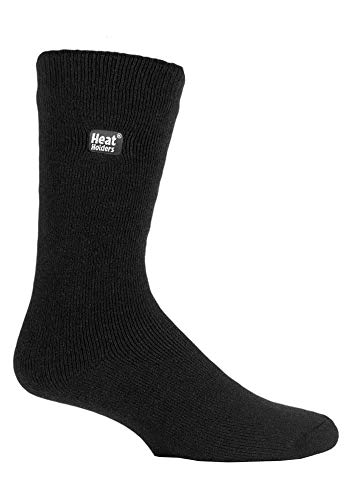 HEAT HOLDERS - Hombre invierno calientes termicos vestir calcetines (39-45 Eur, Black)
