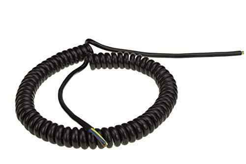 Baude PVC SPIRALKABEL 3 G 0,75 mm², ca. 2 m, schwarz