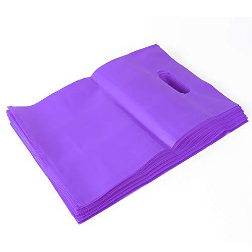 ULTECHNOVO Bolsas de Mercancías de Compras de Plástico Bolsa de Regalos de Tienda Minorista con Mango Troquelado 100 Piezas