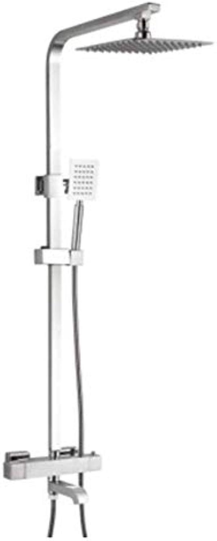 Bad Kupfer intelligente Temperaturregelung Thermostat-Duschset Square Grünckte Dusche Thermostat Wasserhahn Set