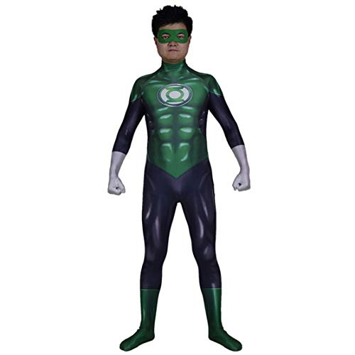 Disfraz Linterna Verde Adulto Niño Cosplay Superheroe Costume Halloween Carnaval Green Lantern Monos/M