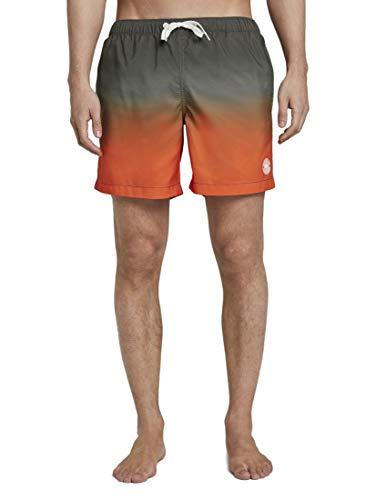 TOM TAILOR Herren Beachwear/Bademode Badeshorts orange Gradient Design,L,21922,4556