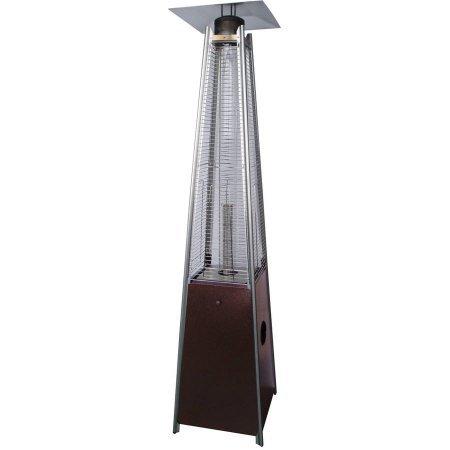 Hiland Bronze Glass Tube Patio Heater, HLDS01-GTHG