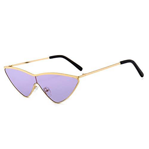 YOULIER Gafas de sol gradiente moda ojo de gato gafas de sol mujer pasarela calle tiro gafas