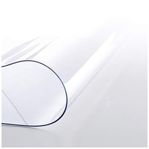 AJSJ Przezroczysta ochrona stołu, wodoodporna miękka szklana przezroczysta osłona na stół, zmywalna mocna PCW wodoodporna osłona stołu 1 mm do powierzchni mebli jadalnianych, biurka (rozmiar: 60 x 200 cm/23 x 79 cali)