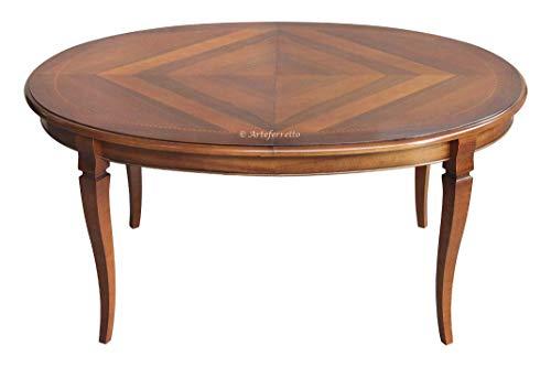 Arteferretto Table Ovale marquetée à rallonge 160-210 cm