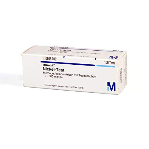 MQuant® Nickel-Teststäbchen 10-500 mglT, 1.10006.0001, Merck, 100 St.