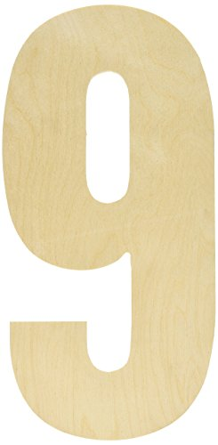 MPI Baltischer Birke Collegiate Schrift Buchstaben und Zahlen, stoßabsorbierender Griff, Nummer