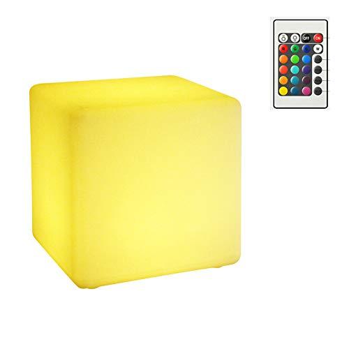 WYZQQ LED Cube 16 kleuren zadel waterdicht oplaadbaar met decoratie voor de tuin
