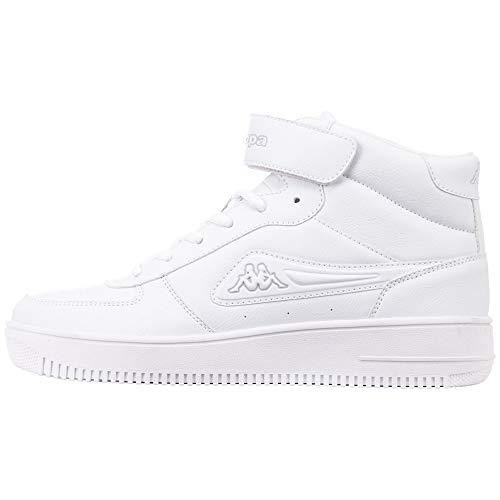 Kappa Damskie buty typu sneaker Bash Mid, biały - 1014 White L Grey - 36 EU