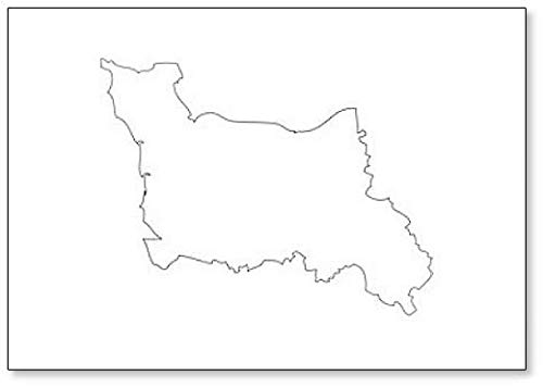 Laag-Normandië - Kaart Regio Frankrijk Koelkast Magneet