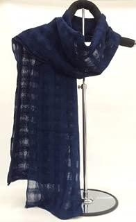 藍染ストール(格子)
