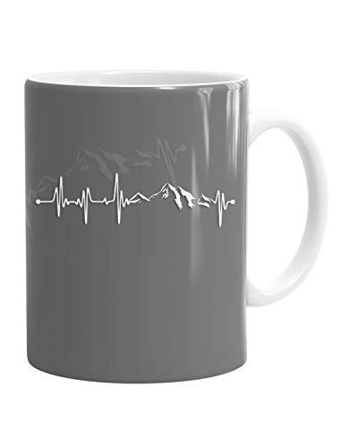Jayess - Wandern Berg Kaffeebecher - Tasse - Herzschlag Berge