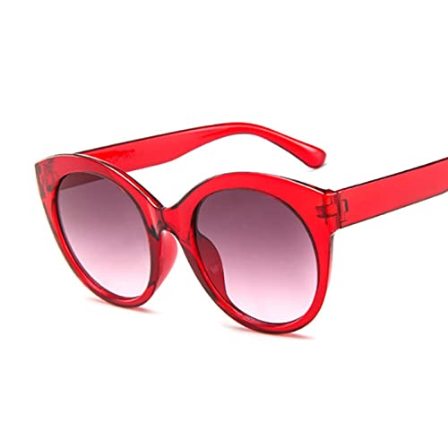 ShSnnwrl Gafas De Moda Gafas De Sol Gafas De Sol De Ojo De Gato De Montura Gruesa para Mujer, Lente De Espejo De Moda para Mujer, Ojo De Gato, Rosa, Negr