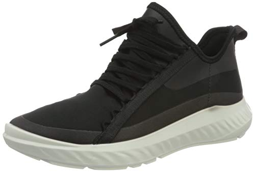 ECCO Damen ST1 Lite W BlackBlack TextileDroid Sneaker, Schwarz (Black/Black), 39 EU