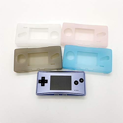 Silicone Case Soft Protective Shell for GBM Gameboy Micro Skin Cover Sleeve (Gray)