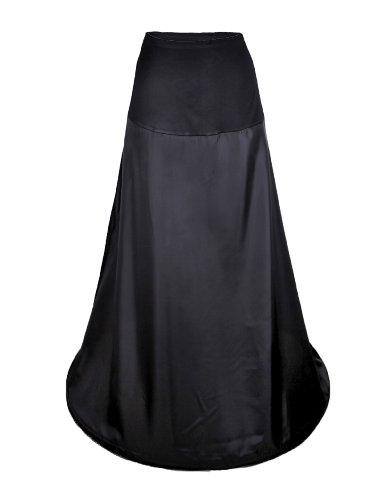1-aro Flora negro cintura PETTICOAT Lycra trajes de novia boda/enagua de diseño de vestido de fiesta, tamaño mediano para faldas completo de cartuchos de tinta