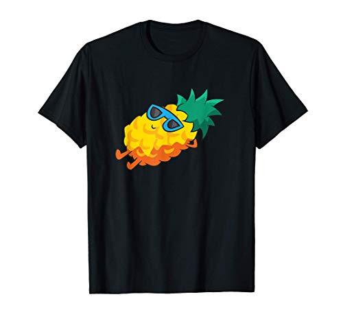 Piña Gafas de sol de fruta de verano en la piña Camiseta