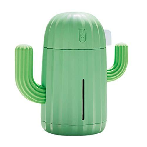 JiaMeng Humidificador Humidificador Aromaterapia, portátil del Aire del Coche de la Oficina en el hogar del difusor del Aire del Cactus de 340ML Mini - JMJS030