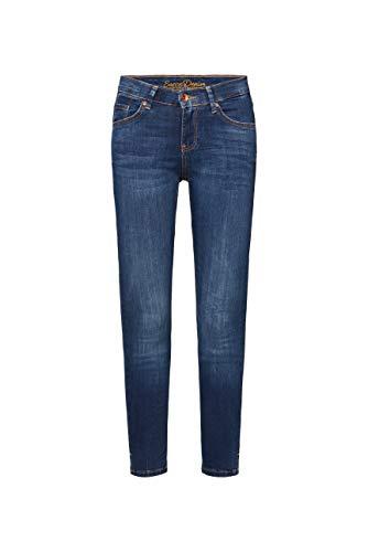 SOCCX Damen Stretch-Jeans MI:RA im Vintage Look