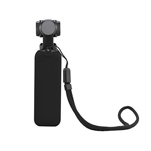 CHshe®-Estuche de Silicona, Estuche Protector de Silicona Con Cordón Para Dji Osmo Pocket Handheld Gimbal, Accesorios de Cámara (Negro)