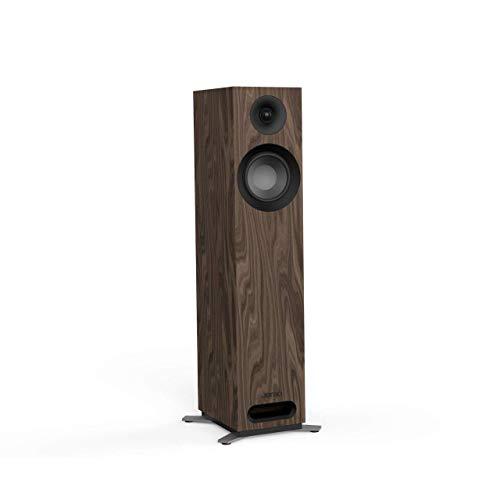 Jamo S 805 160 W Schwarz Walnuss-Lautsprecher – Lautsprecher (2.0 Kanäle, kabelgebunden, 160 W, 49 – 26000 Hz, 8 Ohm, Schwarz, Walnuss)