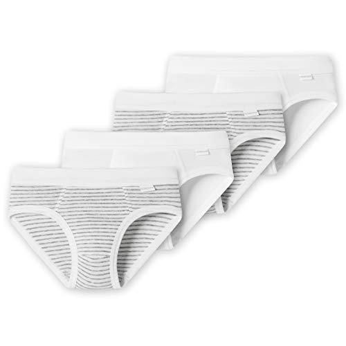 Schiesser - Kids Boys - Sportslips/Unterhosen - 4er Spar-Pack (98 Weiß)